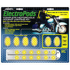 STREET FX ELECTROPODS® Complete Motorcycle LED Kit -Yellow/Chrome oem 1043335