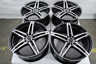 17 5x114.3 5x100 Black Wheels Fits Accord Mazda 3 6 Is250 Is350 Civic 5 Lug Rims