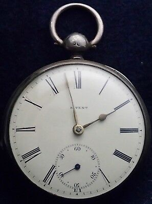 J.BROCK London Solid Silver FUSEE Lever PATENT  Pocket Watch Hallmarked 1839