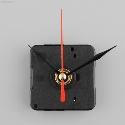 5256 Silent Clock Quartz Movement Mechanism Red and Black Hand DIY Part Kit Set