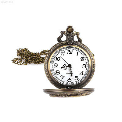 D852 Retro Horse Copper Bronze Gifts Pocket Watch Antique Animal Hanging Chain