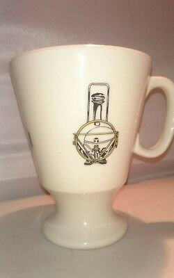 "Shenango China Footed Mug Engineering Architecture Drafting Mug 4.25"" tall"