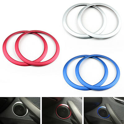 2xPuerta Anillo De Altavoz Cubierta Sound Audio Cover Trim Ring Para BMW X1 B6/