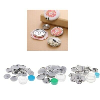 10 sets button blanks for cover buttons metal backs with assembly tools set