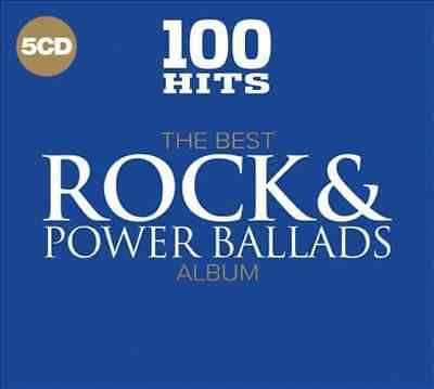 The Best Rock & Power Ballads Albums: 100 Hits (5-CD) Import,Box set