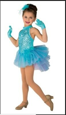 Costume Gallery Dance Costume Tap Jazz Light Blue Feathers Sequins 6X