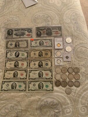 US Gold, Silver, And US Paper Money Lot.