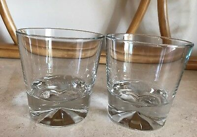 Set of 2 Johnnie Walker Diamond Base Rocks Glasses 10 oz