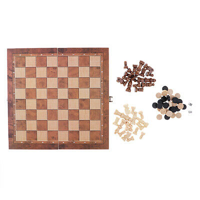Folding 3-in-1 Classic Board Game Set 24x24cm - Chess, Checkers, Backgammon