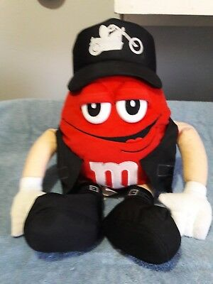 Red M&M's Biker Plush