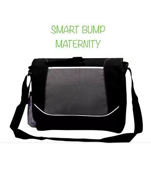 Baby change nappy bag boy girl unisex Maternity holdall Grey/Black Pram Satchel