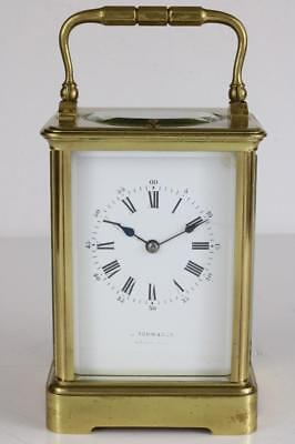 GOOD ANTIQUE FRENCH CARRIAGE CLOCK strike repeater BEAUTIFUL CONDITION