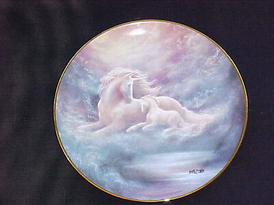 Hamilton Collection A Mothers Love Unicorn Mystical Porcelain Collector Plate