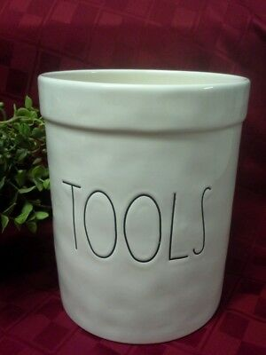 """NEW"" Rae Dunn By Magenta ""TOOLS"" Container Canister Utensil Holder"