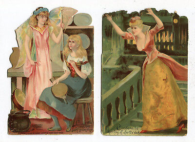 1895 Raphael Tuck & Sons Die Cut Paper Litho Cinderella Story Cards Victorian TC