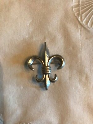 Vintage Sterling Silver Fleur De Lis Pin/Brooch Signed C A With Arrow