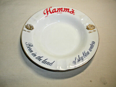 Hamm's Beer Porcelain Ash Tray / Look