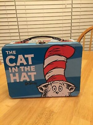 Dr. Seuss The Cat in The Hat Lunchbox Carry All Large Tin Tote
