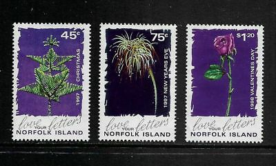 NORFOLK ISLAND 1997 Annual Festivals, Christmas, New Year, mint set of 3, MNG