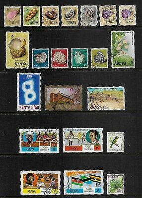 KENYA mixed collection No.7, incl Shells, 1976 Olympics set, used & CTO