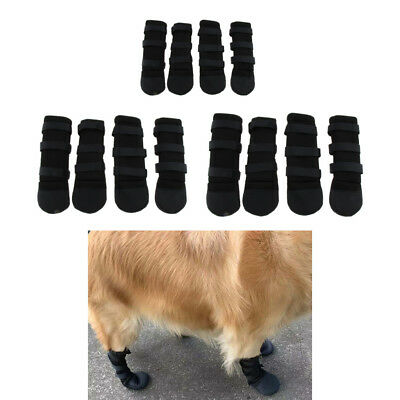 4pcs Dog Shoes with Anti-Slip Sole Dog Boots for Small Medium Large Dogs