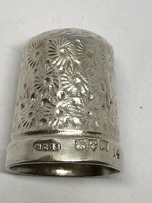 Sterling Silver Thimble - HG & S - Chester -1922