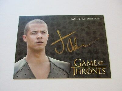 Game of Thrones Valyrian Steel Jacob Anderson as Grey Worm GOLD Autograph