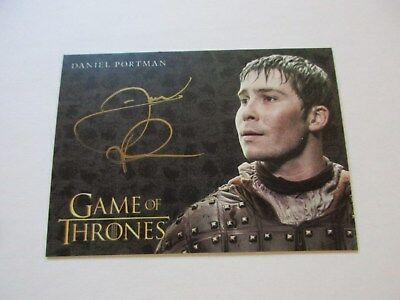 Game of Thrones Valyrian Steel Daniel Portman as Podrick Payne GOLD Autograph