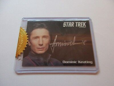 Quotable Star Trek Enterprise Series 1 Dominic Keating Reed Autograph Archives