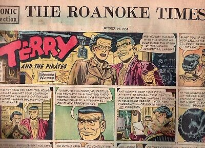 October 19 1952 Sunday Comic Section-Roanoke Times-12 Pages-Tracy-Lone Ranger