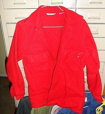 Vintage Official Boy Scouts of America Red Wool Blend Mens Jacket Size 38