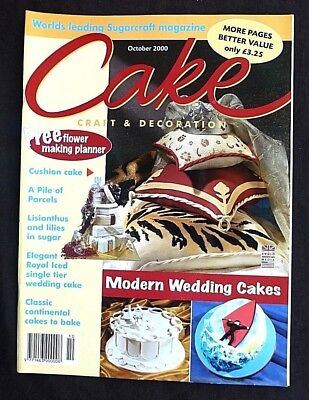 Cake Decoration, October 2000, Modern Wedding Cakes, Lillies In Sugar