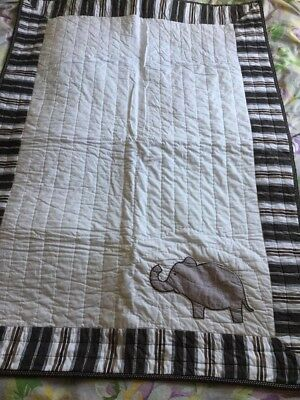 Pottery Barn Kids Elephant 🐘  Toddler Quilt cover NWOT