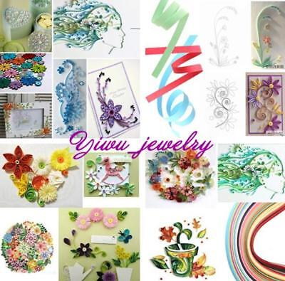 Quilling Paper 5mm Width Mixed Color Origami Paper Craft DIY Toy 260 Stripes YZ