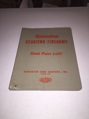 1950's & 60's Remington Sporting Firearms Parts Price List