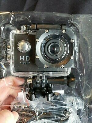 Action Camera, 12MP 1080P 2 Inch LCD Screen, Waterproof Sports Cam 120 Degree DV