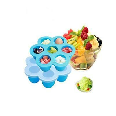 7 Grid Baby Meal Food Storage Container with Lids Freezer Trays Y2