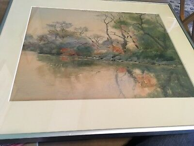 Listed Artist Elmer Joseph Read Signed Watercolor Paint Glouster Massachusetts