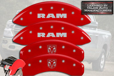 MGP Caliper Covers RAMHEAD Engraving For 2002-2005 Dodge Ram 1500-Red