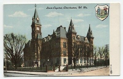 WV ~ State Capitol Bldg. CHARLESTON West Virginia c1908 Kanawha County Postcard