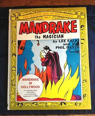 Mandrake The Magician Lee Falk, Phil Davis, Golden Age Of Comics #7, Hcdj 1970