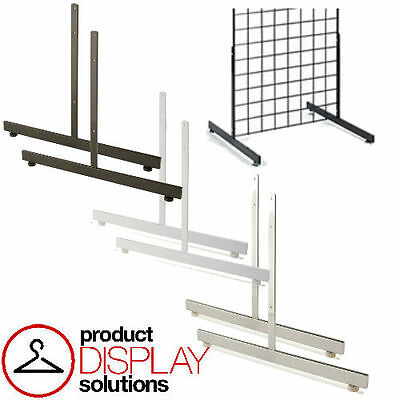 Box of 2 | Grid Gridwall T Shaped Legs Base Grid Stand | BLACK,WHITE or CHROME