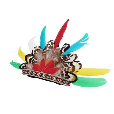 New Pet Indian Feather Cat Hat Animals Pet Head Photography Supplies Y2