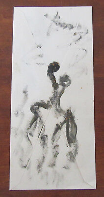 Purvis Young - Signed Original Painting - Figures -Listed Artist COA Vintage