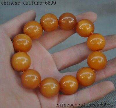 old Chinese Natural Horns Ox horn Hand carved beads Bracelets Bangle Wristle