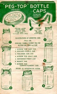 Fowlers Vacola antique price list leaflet dated 27th September 1951