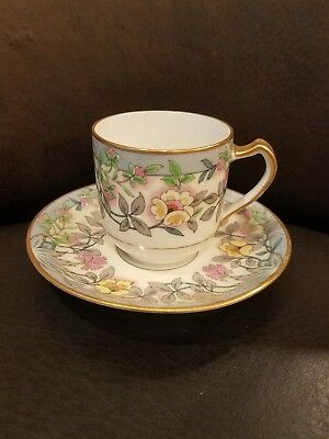 Rare Haviland France Harmony Demitasse Cup and Saucer Set