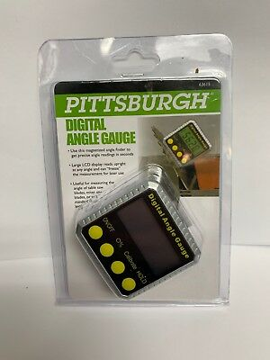 Brand New = Pittsburgh Digital Angle Gauge # 63615 = Lcd Display = Magnet Base