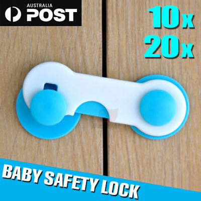 10/20PCS Child Kids Baby Safety Lock For Door Drawers Cupboard Cabinet Adhesive