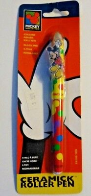 Ink Pen Sealed Package Vintage 1996 Mickey Mouse Ceramic Roller Ball Pen #96195